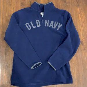 Old navy fleece 3/4 zip mock sweatshirt